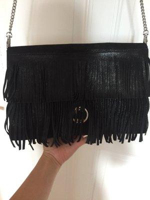 Laurel Crossbody Bag mit Fransen schwarz/glitzer