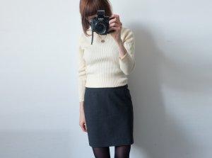 laurel designer strick-rolli cremeweiß reine schurwolle S gerippt