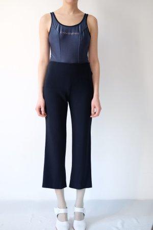 Laurèl Pantalon taille haute bleu foncé