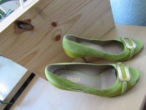 LAUREL | Edle Leder-Pumps | High Heels | Peeptoes | Gr. 37 | kiwi/pistazie