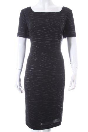 Laurèl Etuikleid schwarz-dunkelbraun Streifenmuster Casual-Look