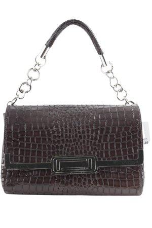 Laurèl Handtasche schwarzbraun-braunrot extravaganter Stil