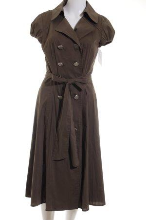 Laurèl Vestido tipo blusón marrón grisáceo look casual