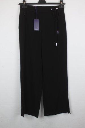 Laurèl Falda pantalón de pernera ancha negro-color plata tejido mezclado