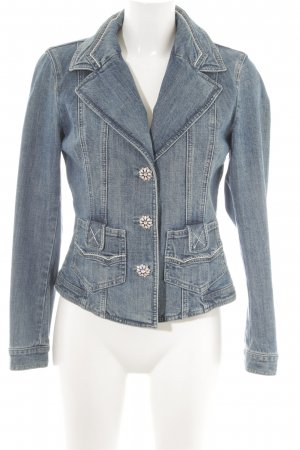 Laurèl Denim Blazer blue street-fashion look