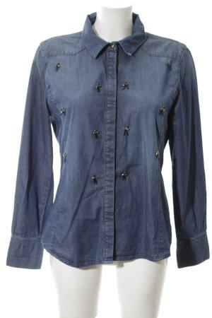 Laurèl Denim Shirt blue street-fashion look