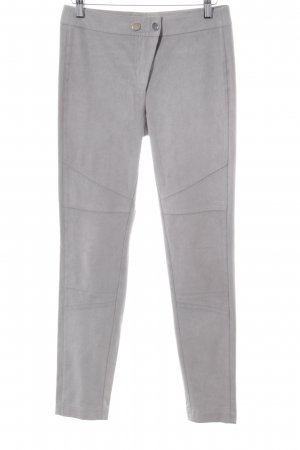 Laurèl Pantalón de pinza alto gris claro-color plata estilo «business»