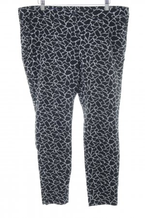 Laurèl Peg Top Trousers black-white allover print casual look
