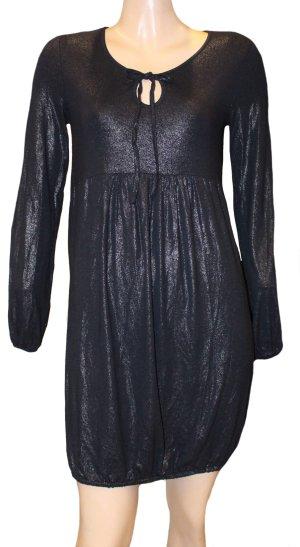 Laurèl vestido de globo azul oscuro Viscosa