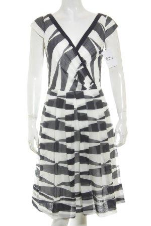 Laurèl Kleid weiß-blau Streifenmuster klassischer Stil