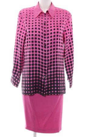 Laurèl Traje para mujer rosa-negro estampado a lunares estilo «business»