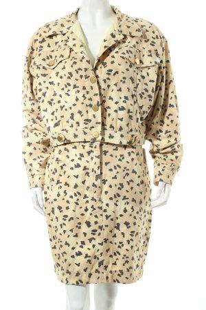 Laurèl Kostüm beige-schwarz Allover-Druck Vintage-Look