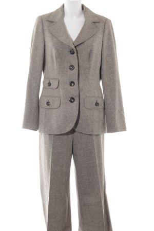 Laurèl Damespak camel-grijs-bruin gestippeld dandy stijl