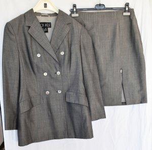 LAUREL-Kostüm, grau, mit Seide