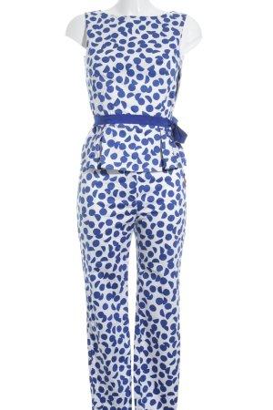 Laurèl Kostüm weiß-blau Punktemuster Business-Look