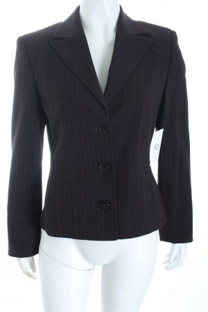 Laurèl Kurz-Blazer braunviolett-lila Nadelstreifen Business-Look