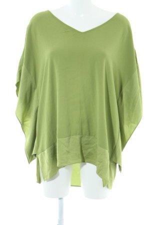 Laurèl Kurzarm-Bluse grün Schimmer-Optik
