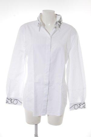 Laurèl Langarmhemd weiß-schwarz Elegant
