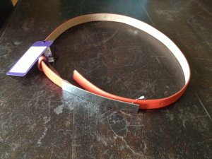 Belt Buckle orange-silver-colored