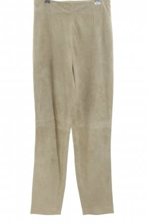 Laurèl Leather Trousers cream casual look
