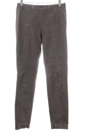 Laurèl Leather Trousers brown extravagant style