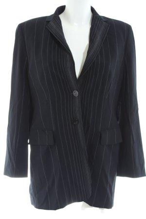 Laurèl Long-Blazer schwarz-hellgrau Streifenmuster Elegant