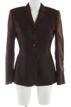 Laurèl Long-Blazer braun-bronzefarben Streifenmuster Elegant