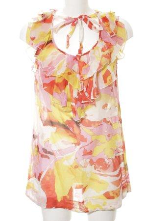 Laurèl Long-Bluse abstraktes Muster schlichter Stil