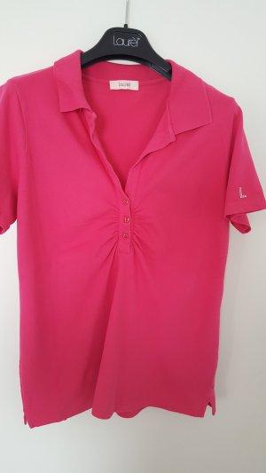 Laurél pinkfarbenes Polo mit Raffung