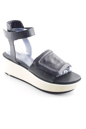 Laurèl Plateauzool sandalen zwart simpele stijl