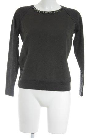 Laurèl Rundhalspullover khaki-graublau minimalistischer Stil