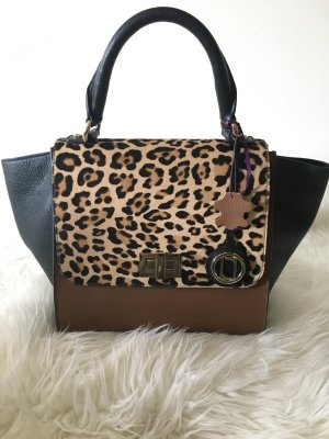 Laurèl Satchel Bag Leopard Print