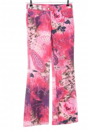 Laurèl Flares pink-lilac allover print casual look