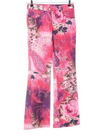 Laurèl Pantalón de campana rosa-lila look casual