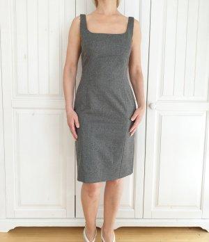 Laurel Schurwolle Kleid Dress Grau 36 S Buisness Abendkleid Hochzeit Abschluss Formal