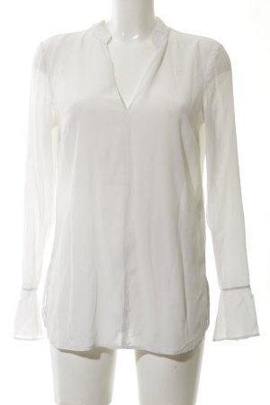 Laurèl Blouse en soie blanc style d'affaires
