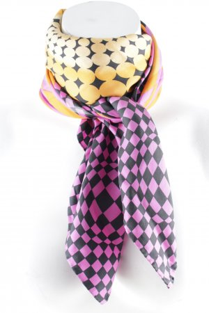 Laurèl Silk Scarf abstract pattern casual look