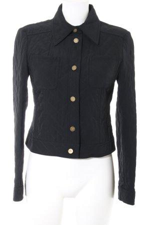 Laurèl Veste matelassée noir motif de courtepointe style décontracté