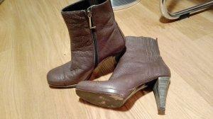 Laurèl Stivaletto con plateau marrone-grigio Pelle