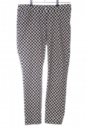 Laurèl Stoffhose schwarz-weiß grafisches Muster Casual-Look