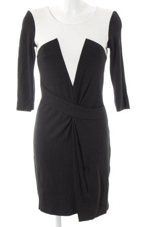 Laurèl Vestido elástico negro-blanco estilo «business»