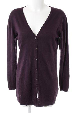 Laurèl Giacca in maglia marrone-viola stile casual