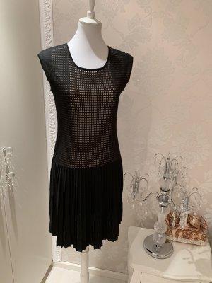 Laurèl Vestido tejido negro-nude