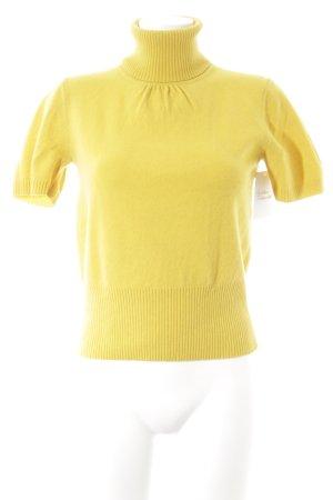 Laurèl Gebreid shirt geel casual uitstraling