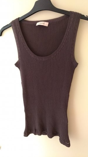 Laurèl Knitted Top bronze-colored-light brown cotton