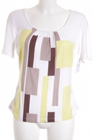 Laurèl T-Shirt grafisches Muster Glitzer-Optik
