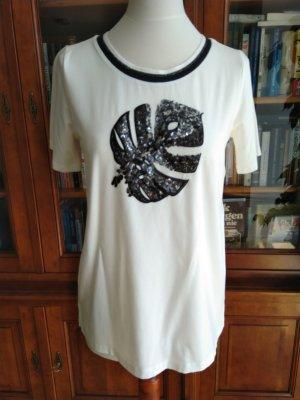 Laurel T-Shirt mit Pailletten weiß schwarz NEU mit Etikett