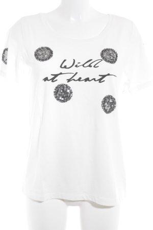 Laurèl T-Shirt Schriftzug gedruckt Casual-Look
