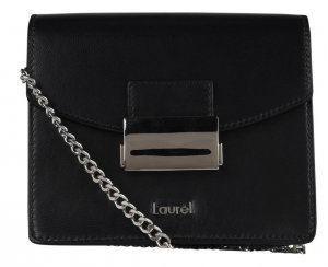 Laurèl Mini Bag black-silver-colored leather