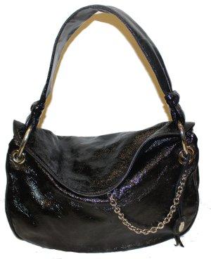 LAUREL Tasche schwarz Lackleder Beuteltasche